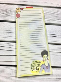 I am a Natural Sista - Note Pad - Gbaby