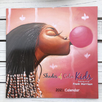 2021 Shades of Color Kids 12 x 12 Wall Calendar by Frank Morrison