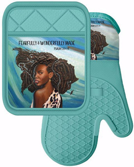 """Silicone Pot Holder size 7"""" x 9"""" / Silicone Oven Mitt size 7"""" x 13"""""""
