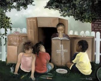 Let's Play Church Art Print - Edwin Lester