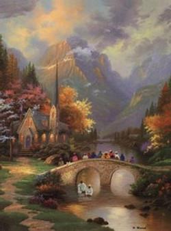 Bridge Of Faith Art Print - Hulis Mavruk