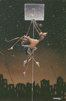 Alpha Fly Slam (mini) Art Print - Frank Morrison