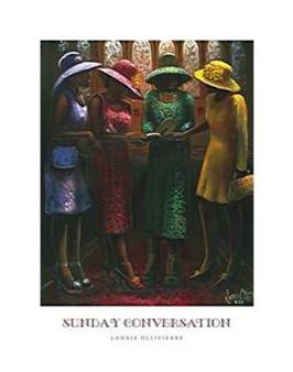 Sunday Conversation (22 x 28) Art Print - Lonnie Ollivierre