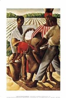 Cotton Pickers Art Print - Richardson
