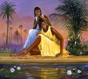 Nubian Maidens (mini) Art Print - Lavarne Ross