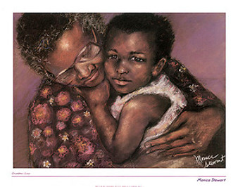 Grandma's Love Art Print - Monica Stewart