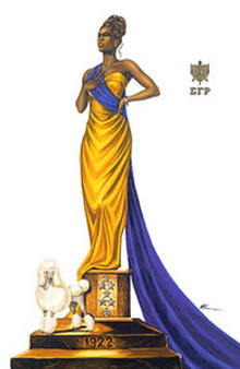 Elegance - Sigma Gamma Rho Art Print Kevin A. Williams - WAK
