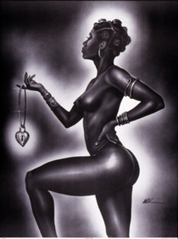 Lock and Key (Female ) Mini Art Print Kevin A. Williams - WAK