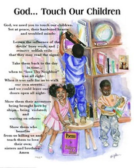 God, Touch Our Children Art Print - Donald Young