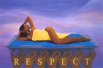 Respect Art Print - Michael Bailey (Zebra)
