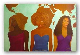 Woman's World Art Print - Michael Bailey (Zebra)