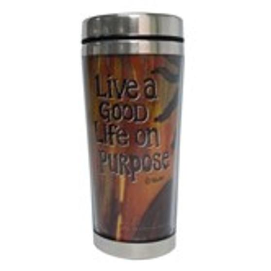 Live A Good Life On Purpose Travel Mug--GBaby
