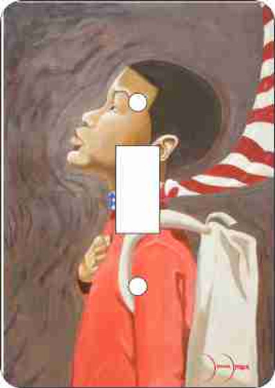 Lil Brown Boy Double  Light Switch Cover--Demar Douglas