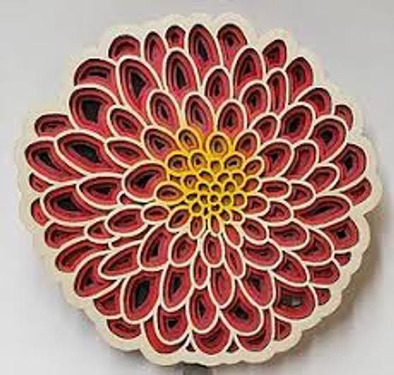 Dahlia Set of 4 Coaster --Pink