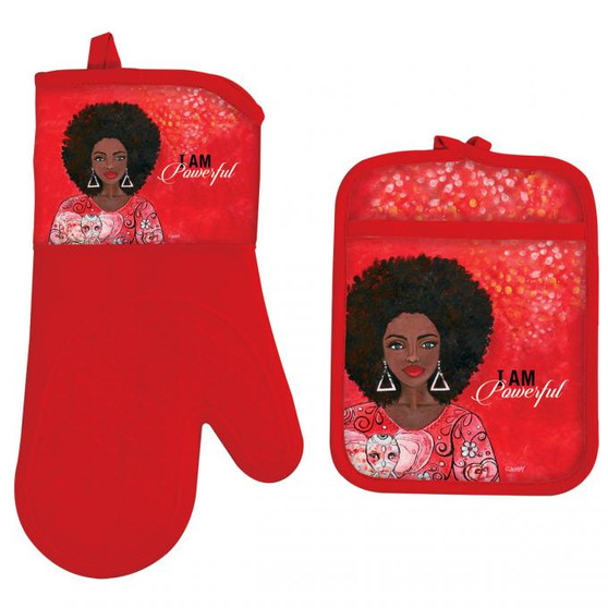I Am Powerful (DTS) Oven Mitt Potholder Set--GBaby