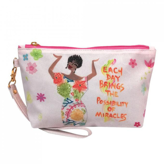 Each Day Brings The Possibility of Miracles Cosmetic Pouches--Cidne Wallace