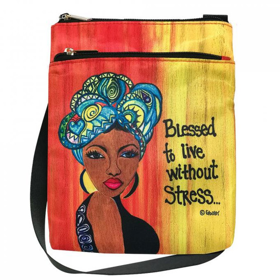 "Blessed To Live Without Stress Travel Purse-- Sylvia""Gbaby""Cohen"