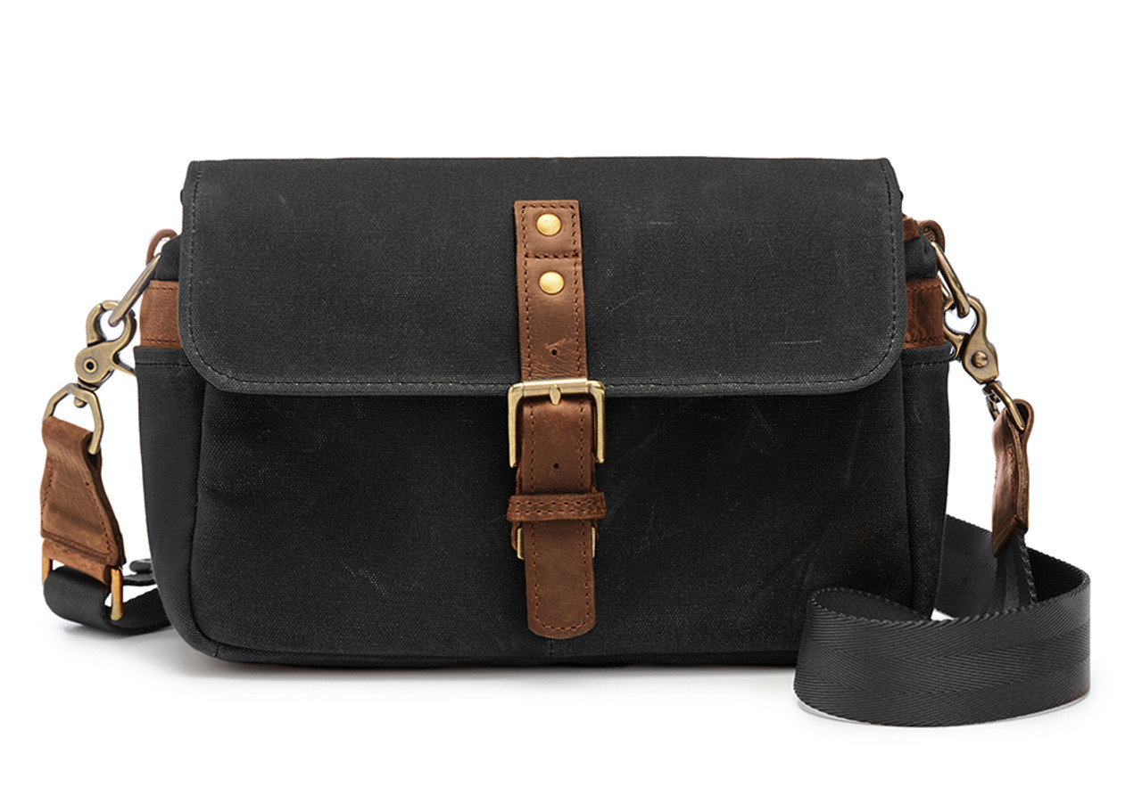 aa9c10a2a885 Ona Bowery Canvas Messenger Bag (Black) - Bedford Camera   Video