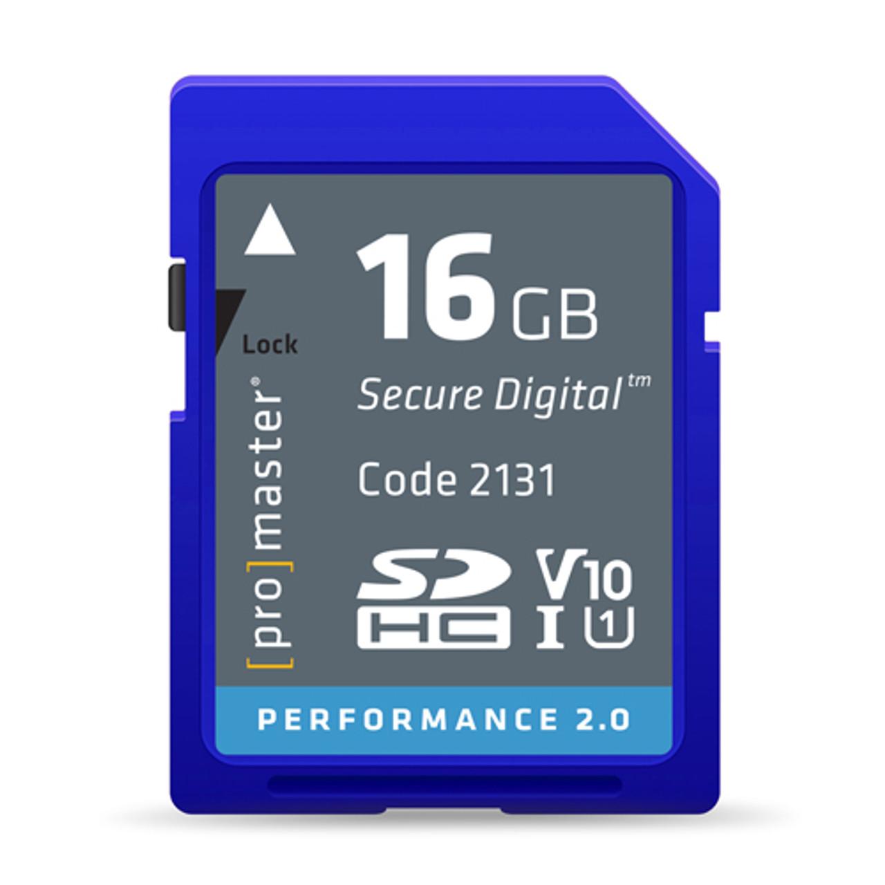 Promaster 16GB Performance 2.0 SDHC V10 Memory Card