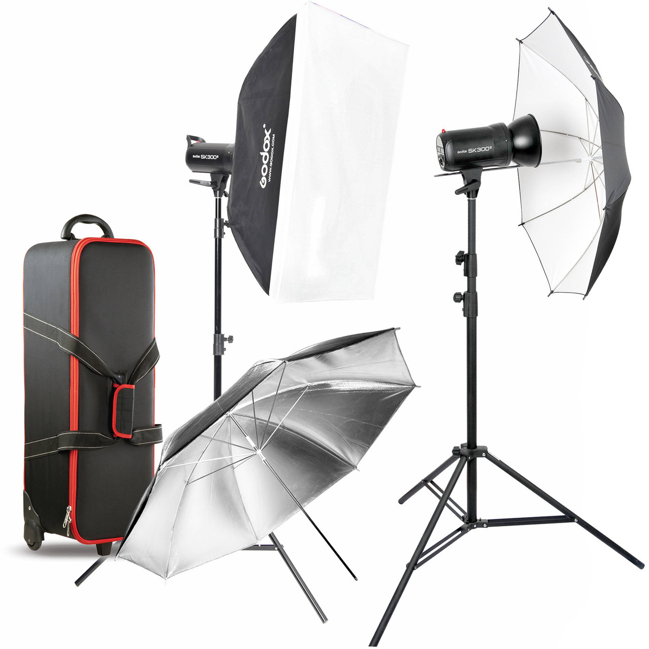Godox SK300II 2-Light Studio Flash Kit