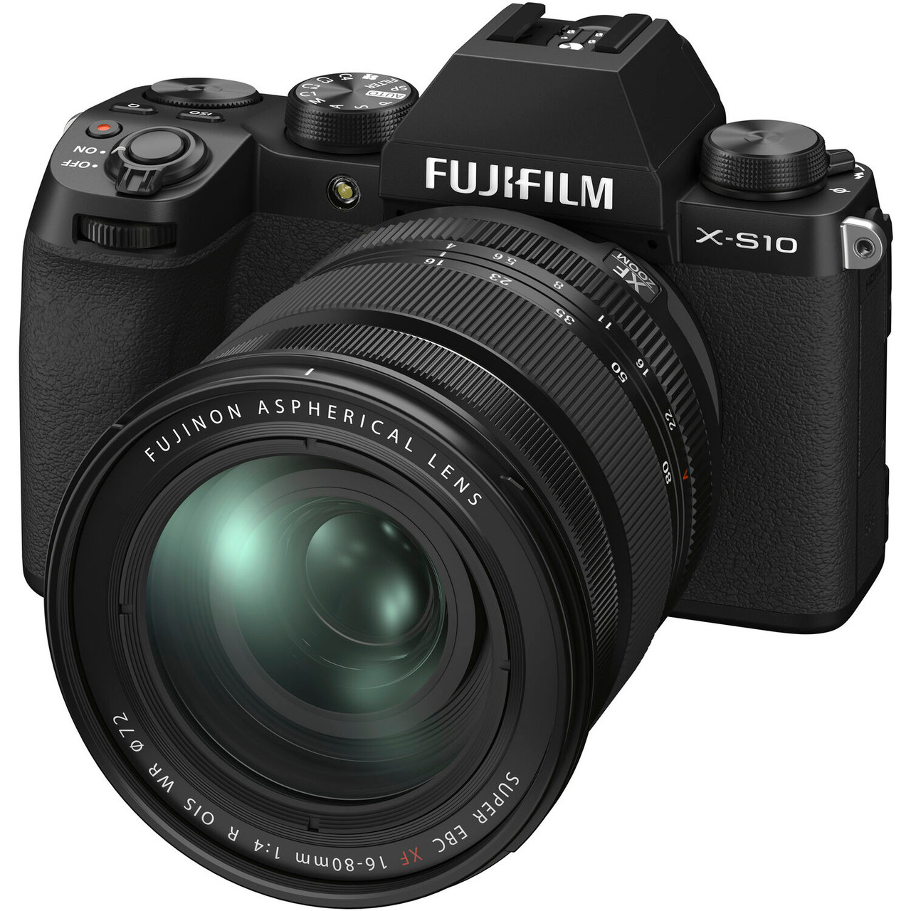 FUJIFILM X-S10 Mirrorless Digital Camera with 16-80mm Lens