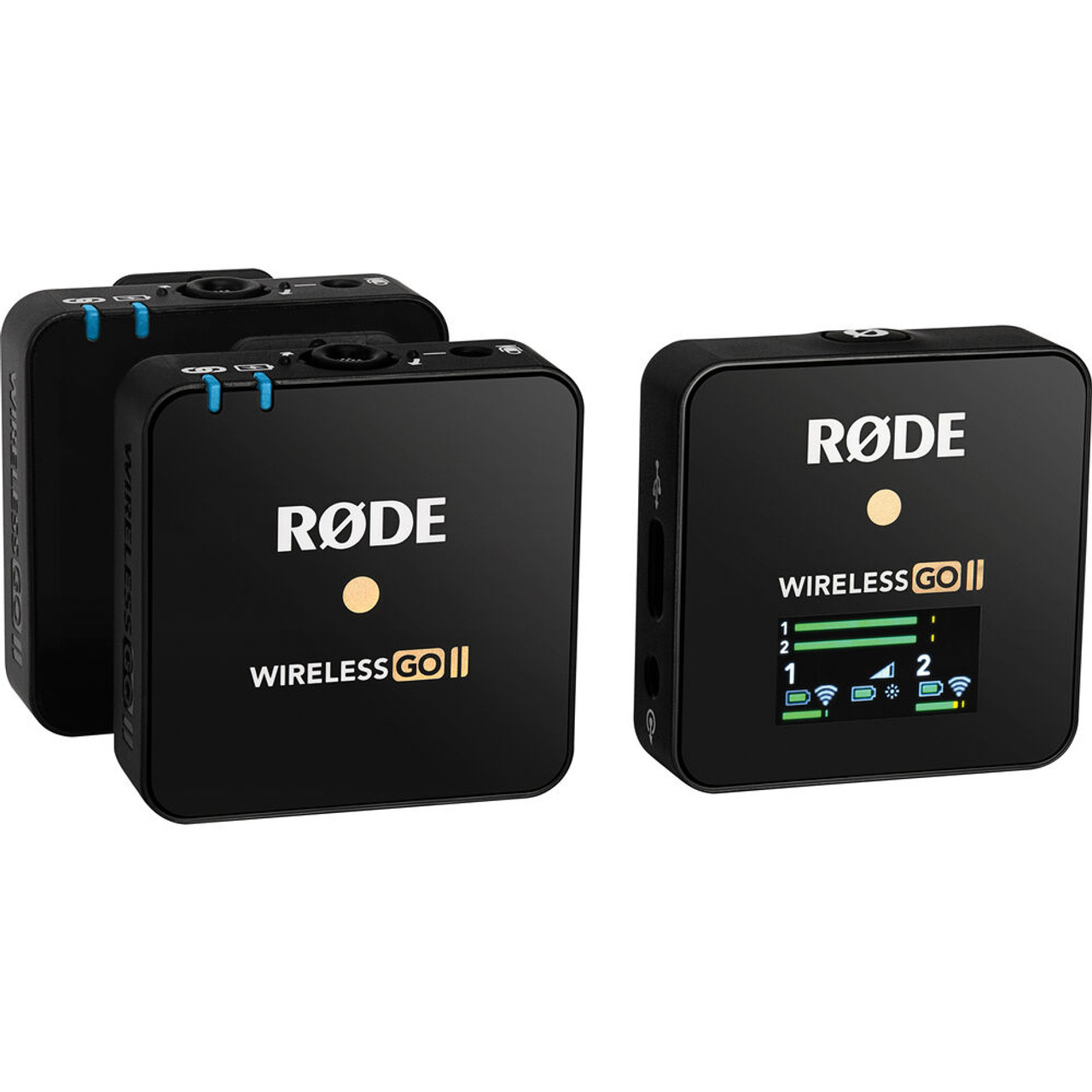 Rode Wireless GO II 2-Person Compact Digital Wireless Microphone System/Recorder (2.4 GHz Black)