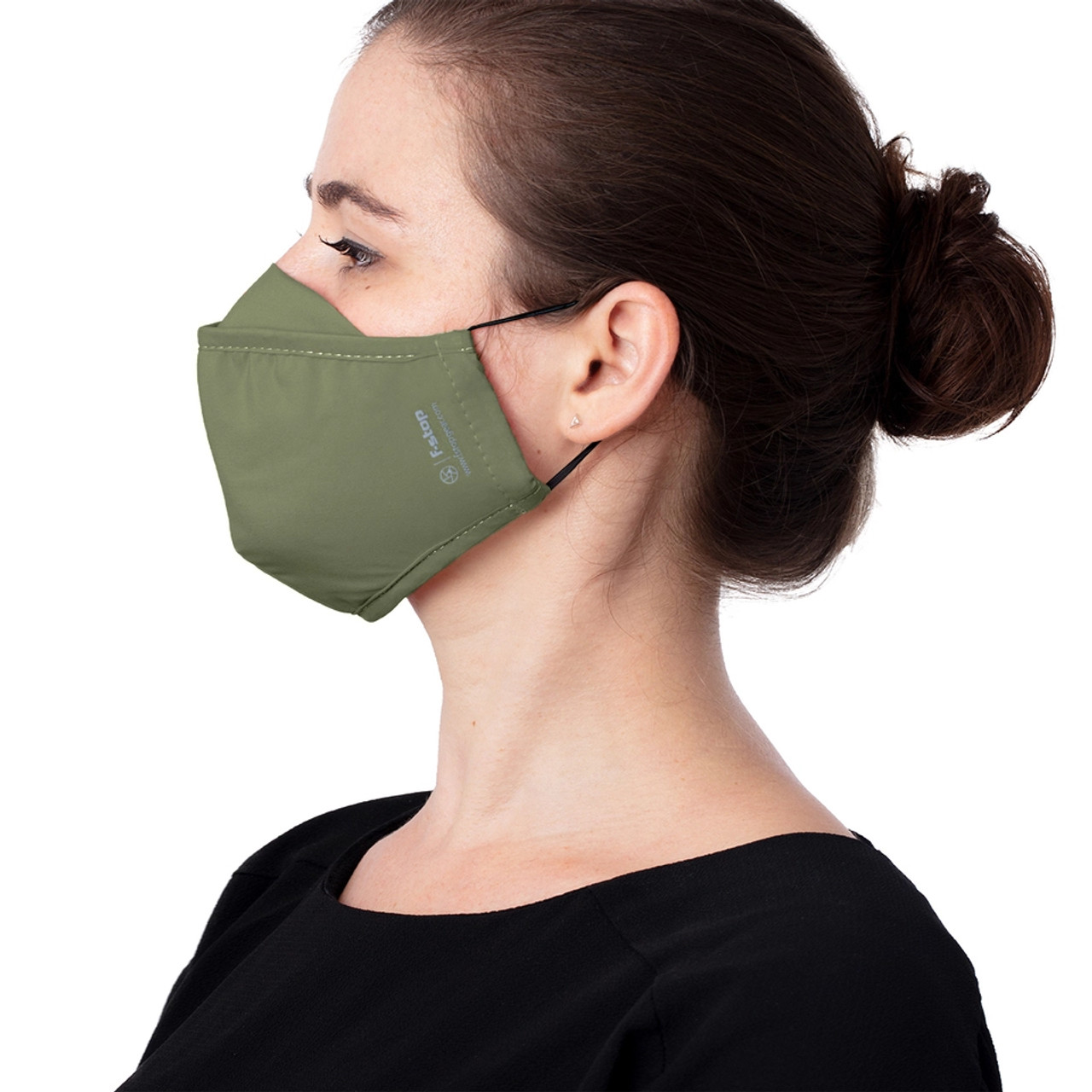 f-stop DYOTA AG+ ION Reusable 3-Layer Antibacterial Fabric Adult Large Face Mask (Green)
