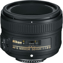 Nikon 50mm f/1.8G AF-S Standard Auto Focus Nikkor Lens