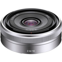 Sony E-Mount 16mm f/2.8 Wide-Angle Alpha E-Mount Lens (Silver)
