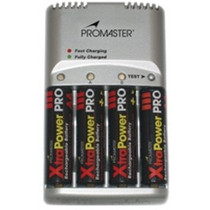 Promaster XtraPower 59 Minute NiMH Charger (with 4 AA batteries)