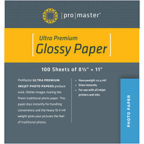 """Promaster Ultra Premium Glossy Paper - 8 1/2""""x11"""" - 100 Sheets - 8 1/2"""" x 11"""" - 100 Sheets"""