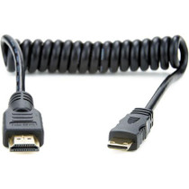 "Atomos Full to Mini HDMI Coiled Cable (11.8 to 17.7"")"