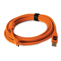Tether Tools 15' (4.6 m) TetherPro USB 2.0 A Male to Mini-B 5-Pin Gold Plated Cable