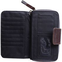 Kelly Moore Wallet (Gray Canvas/Brown Trim)
