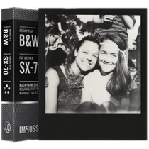 Impossible Black & White 2.0 Instant Film for Polaroid SX-70 Cameras (Black Frame, 8 Exposures)