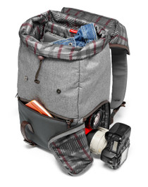 Manfrotto Windsor Camera and Laptop Backpack for DSLR (Gray)