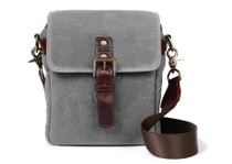 Ona Bond Canvas Messenger Bag (Smoke)