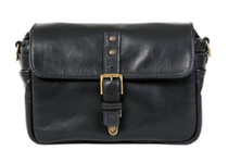 Ona Bowery Leather Messenger Bag (Black)