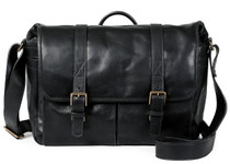 Ona Brixton Leather Messenger Bag (Black)