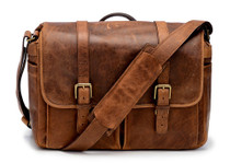 Ona Brixton Leather Messenger Bag (Cognac)