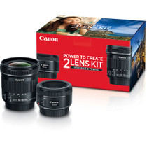 Canon 50mm f/1.8 and 10-18mm Portrait & Travel 2-Lens Kit