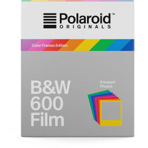 Polaroid Originals Black & White 600 Instant Film (Color Frames Edition, 8 Exposures)