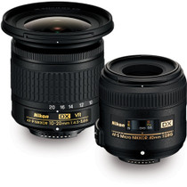 Nikon Landscape & Macro 10-20mm f/4.5-5.6 and 40mm f/2.8 Two Lens Kit