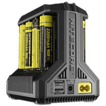 Nitecore i8 Multi-Slot Intelligent Charger for Lithium-Ion, NiMH, or NiCD Batteries