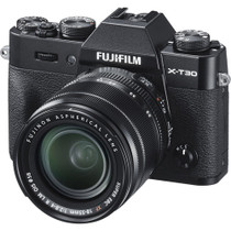 Fujifilm X-T30 and XF 18-55mm F2.8-4 Ring Lens Kit (Black)
