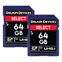 Delkin Devices 64GB Select SDHC UHS-I (V30) Memory Card Dual Pack