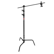 PROFESSIONAL C-STAND KIT WITH TURTLE BASE - BLACK