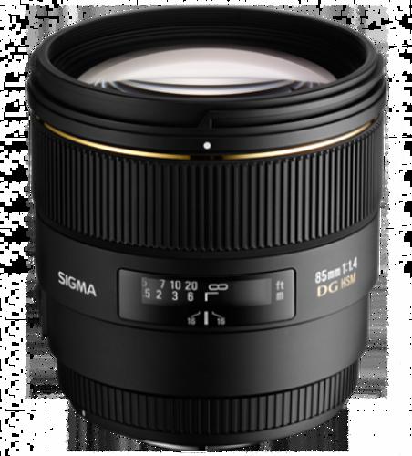 Sigma 85mm f/1.4 EX DG HSM Lens for Nikon AF Cameras - USA Warranty