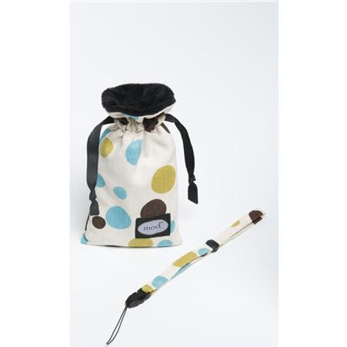 Mod Chocolate/Blue Dot Compact Camera Pouch & Strap