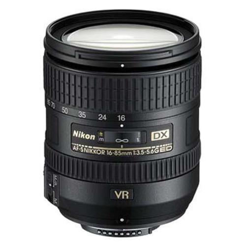 Nikon 16-85mm f/3.5-5.6G AF-S DX ED (VR) Vibration Reduction Zoom Lens - U.S.A. Warranty